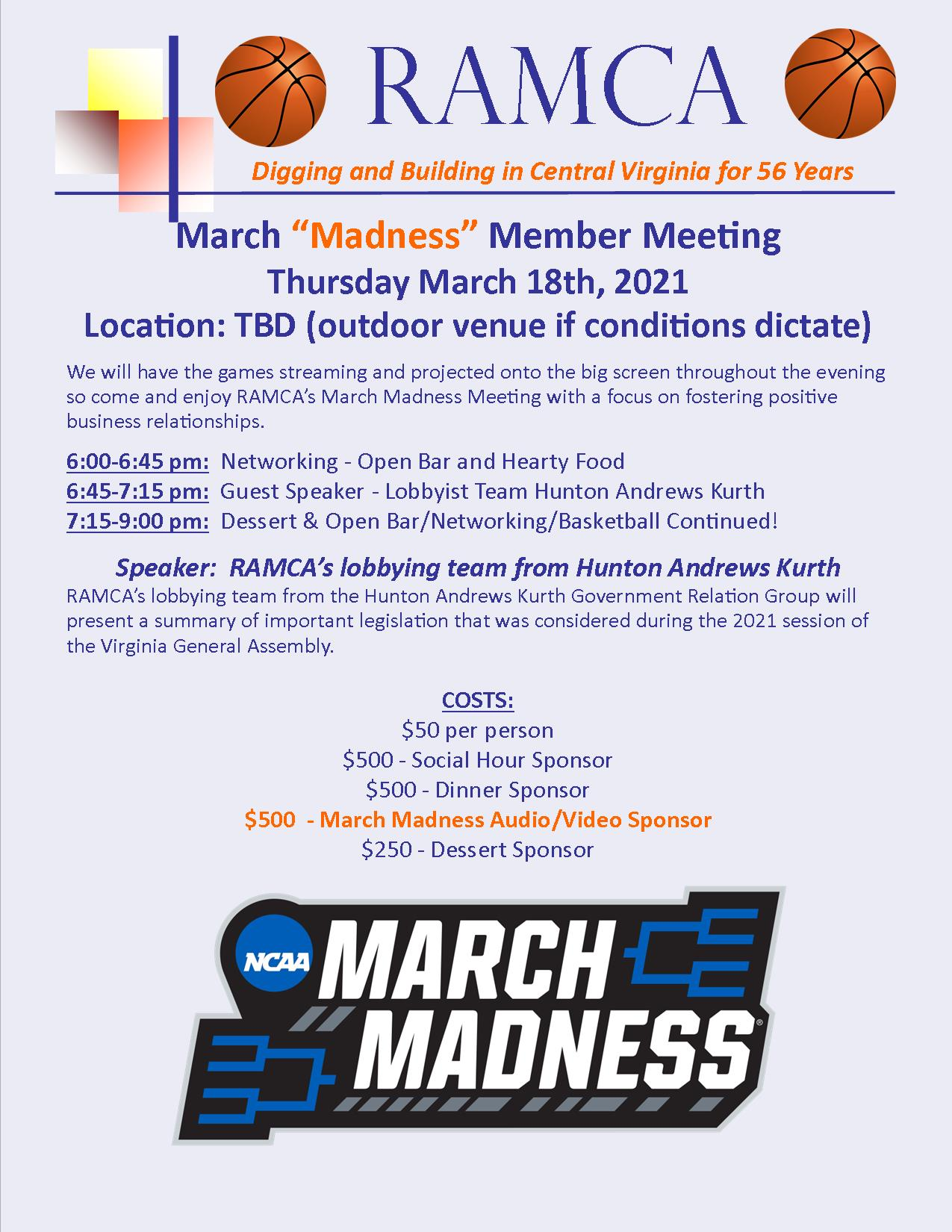 March Madness 18 2021 one pager
